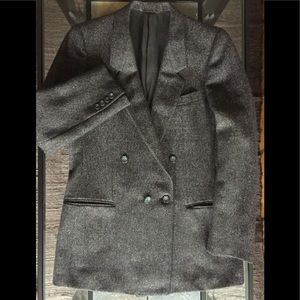 E Zegna Coat Grey Tweed Italian Ermenegildo Jacket